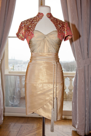 Показ Dilek Hanif коллекции сезона Весна-лето 2013 года haute couture - www.elle.ru - Подиум - фото 479008