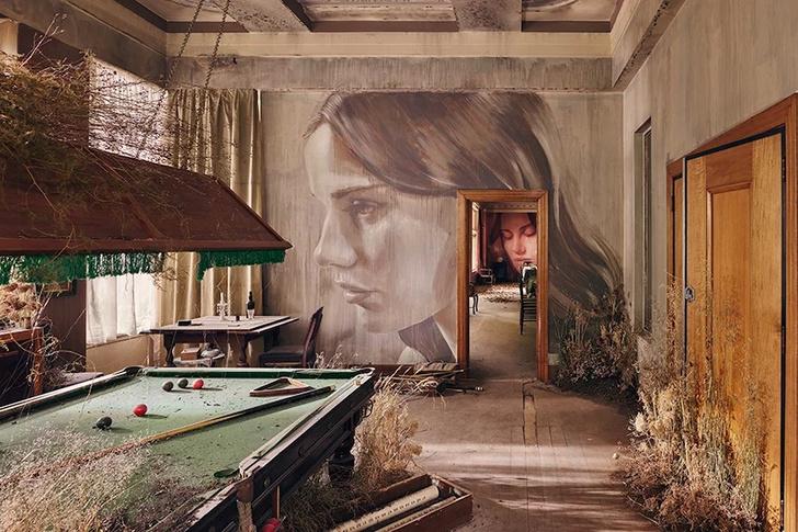 Блеск и нищета: картины на стенах заброшенного особняка (фото 7)