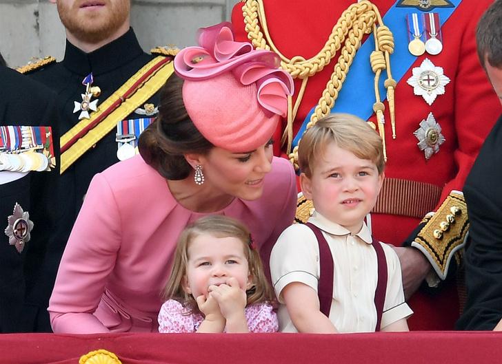 Кейт Миддлтон, принц Георг и принцесса Шарлотта
