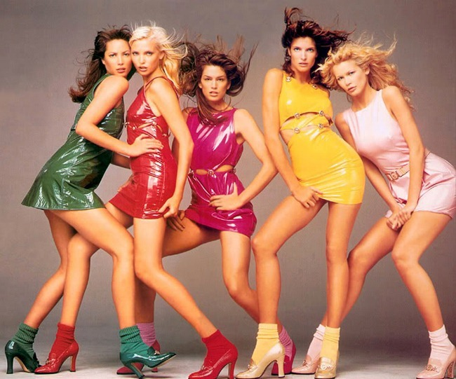 Супермодели 90-х в рекламе Versace