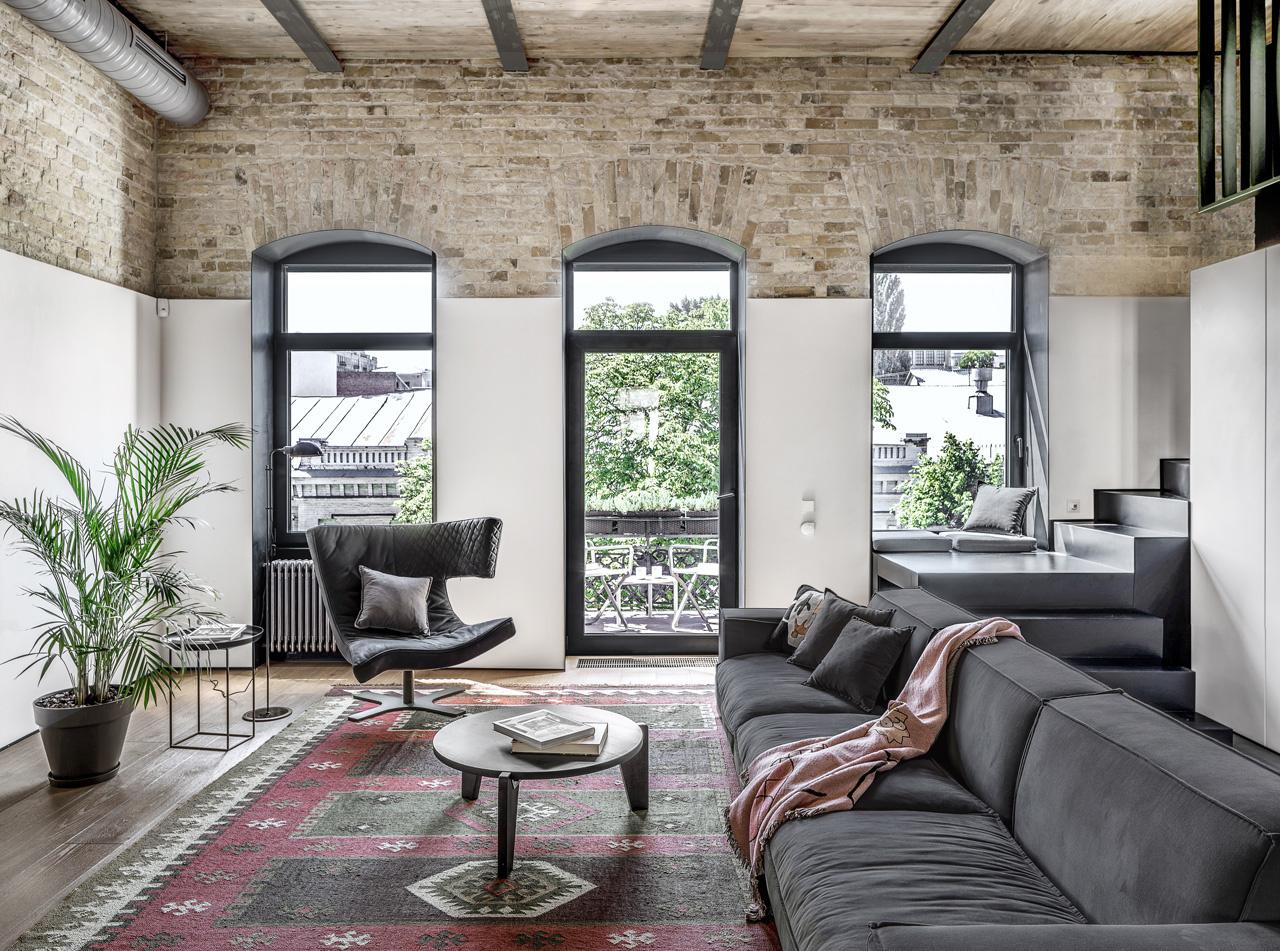 10 интерьеров в индустриальном стиле (галерея 0, фото 0)
