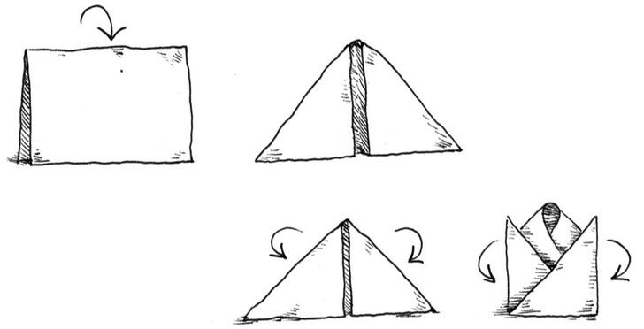 Как сложить салфетки для сервировки стола (фото 4)