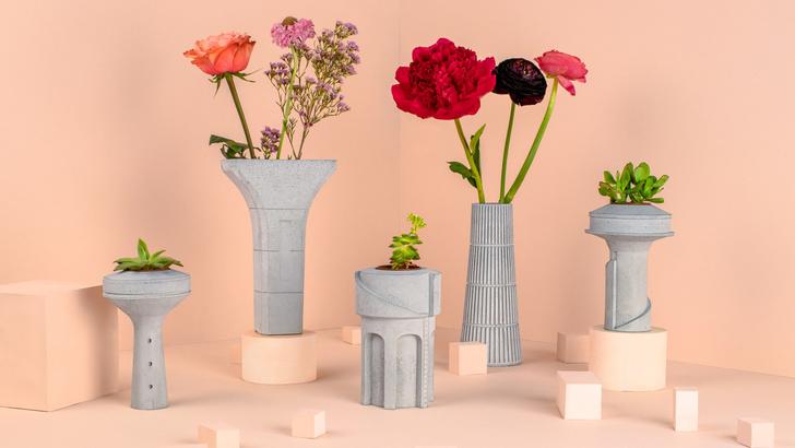Бруталистические цветочные горшки от студии Tiipoi (фото 0)