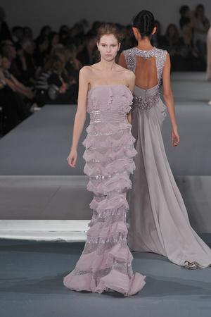 Показ Elie Saab коллекции сезона Весна-лето 2009 года Haute couture - www.elle.ru - Подиум - фото 86585