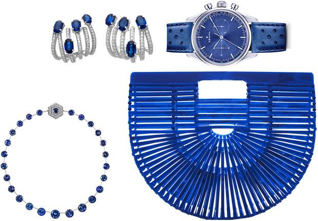 Тренд: украшения и аксессуары в цвете electric blue фото [5]