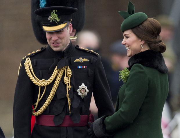 Кейт Миддлтон и принц Уильям на параде в честь Дня святого Патрика (фото 6)