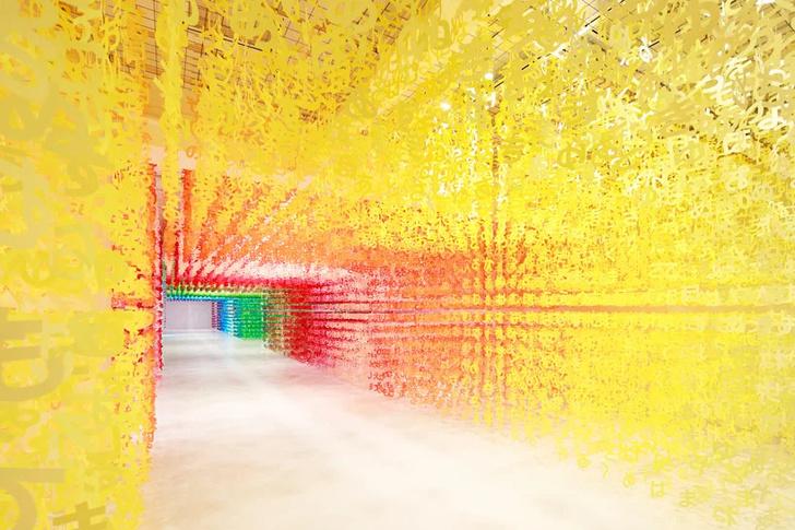 Радужная инсталляция в Токио (фото 0)