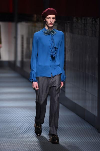 Показ Gucci на Неделе моды в Милане | галерея [1] фото [2]