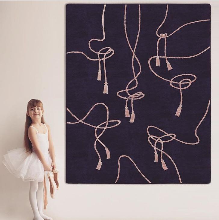 Косички и бантики: новая коллекция ковров Екатерины Елизаровой Braids (фото 2)