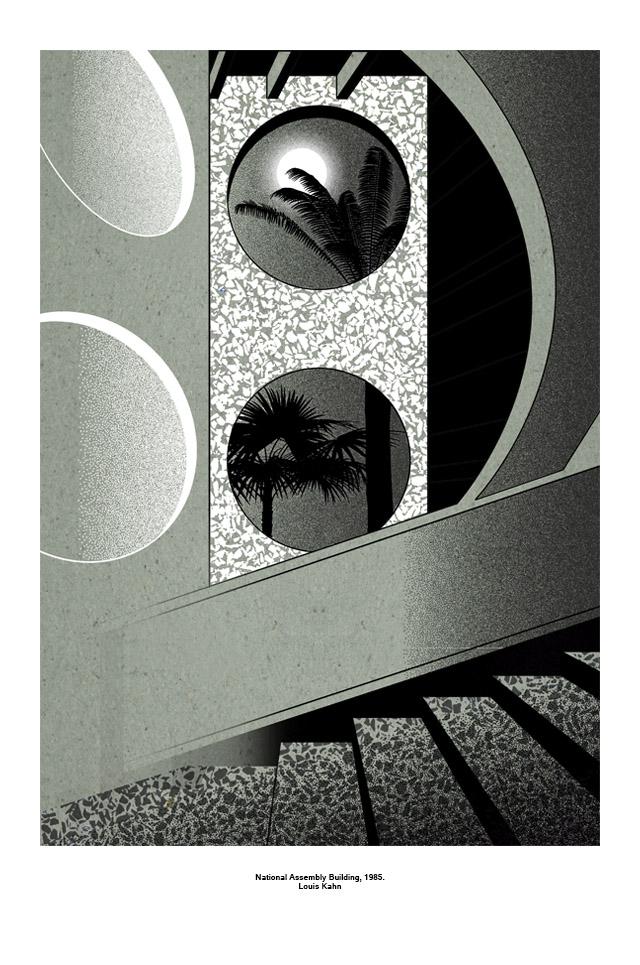 4fe94a357c61 Архитектурные постеры, вдохновленные ретро-футуризмом и конструктивизмом.