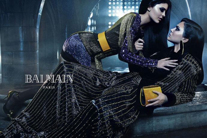 Кайли и Кендалл Дженнер в рекламной кампании Balmain