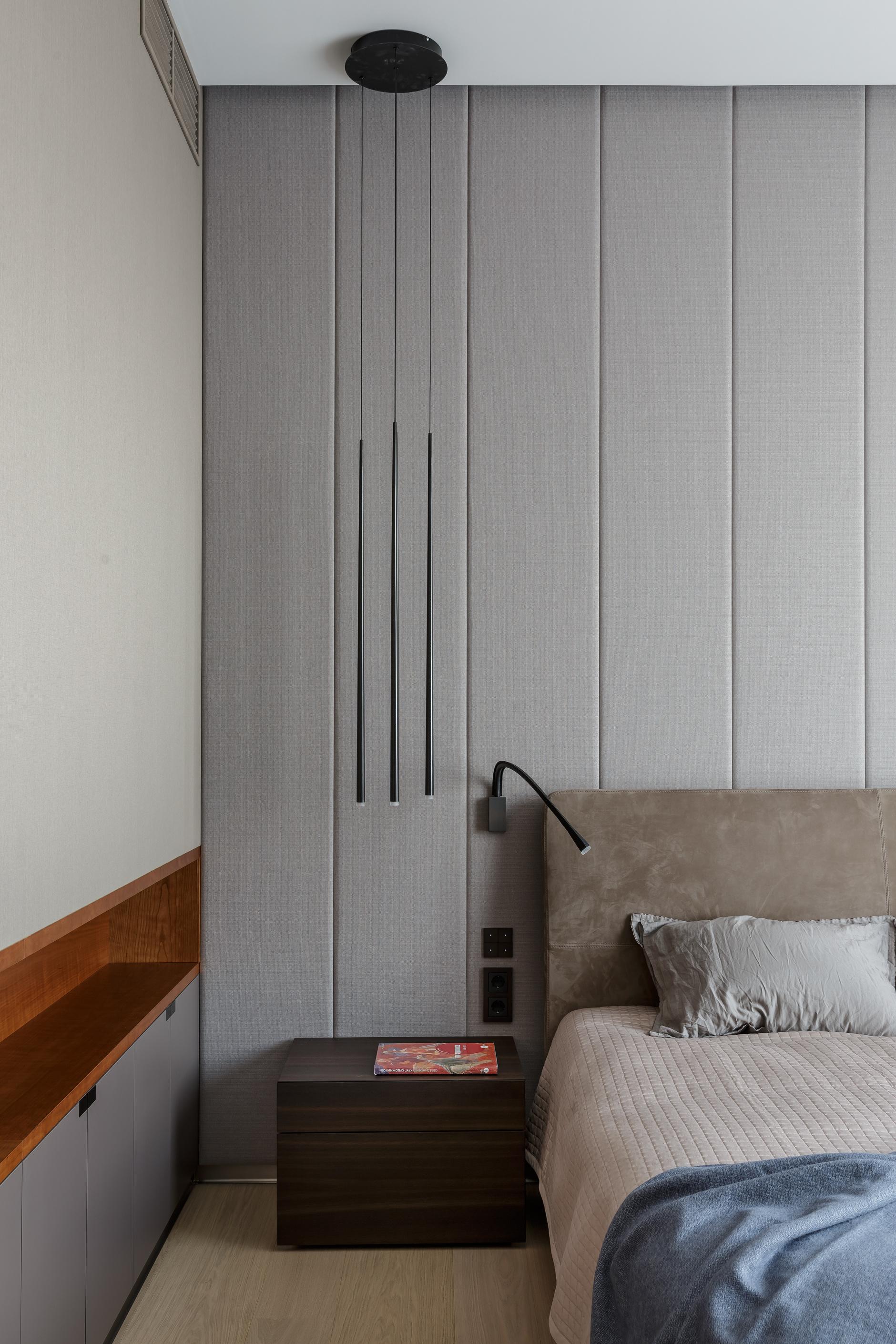 Текстильные панели в спальне: 10 примеров (галерея 0, фото 4)