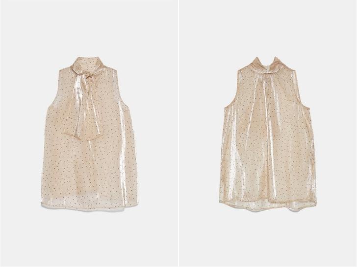 Transparent spring: топ в горошек Zara (фото 1)