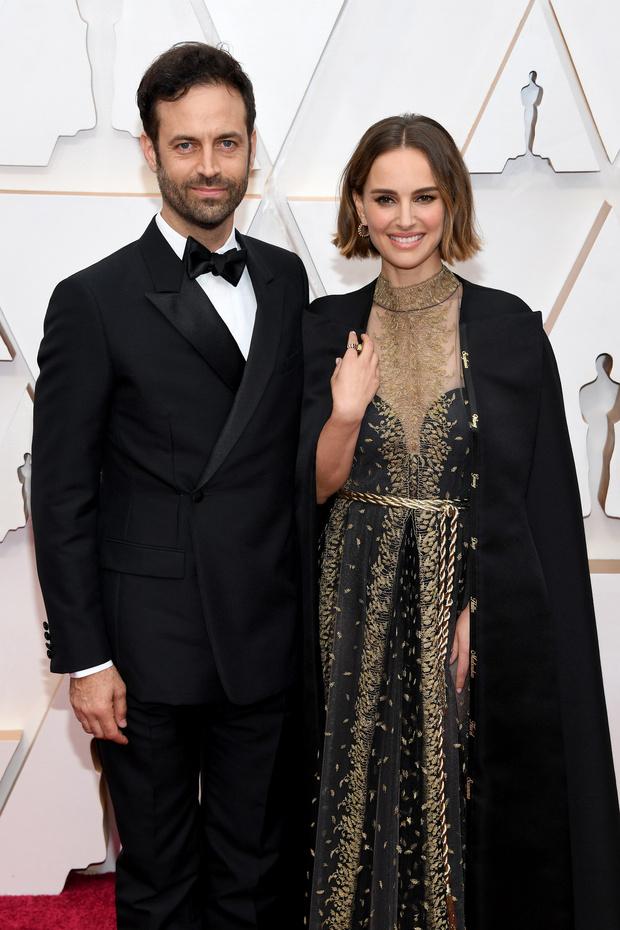 Редкий выход: Натали Портман и Бенджамин Мильпье на премии «Оскар-2020» (фото 2)