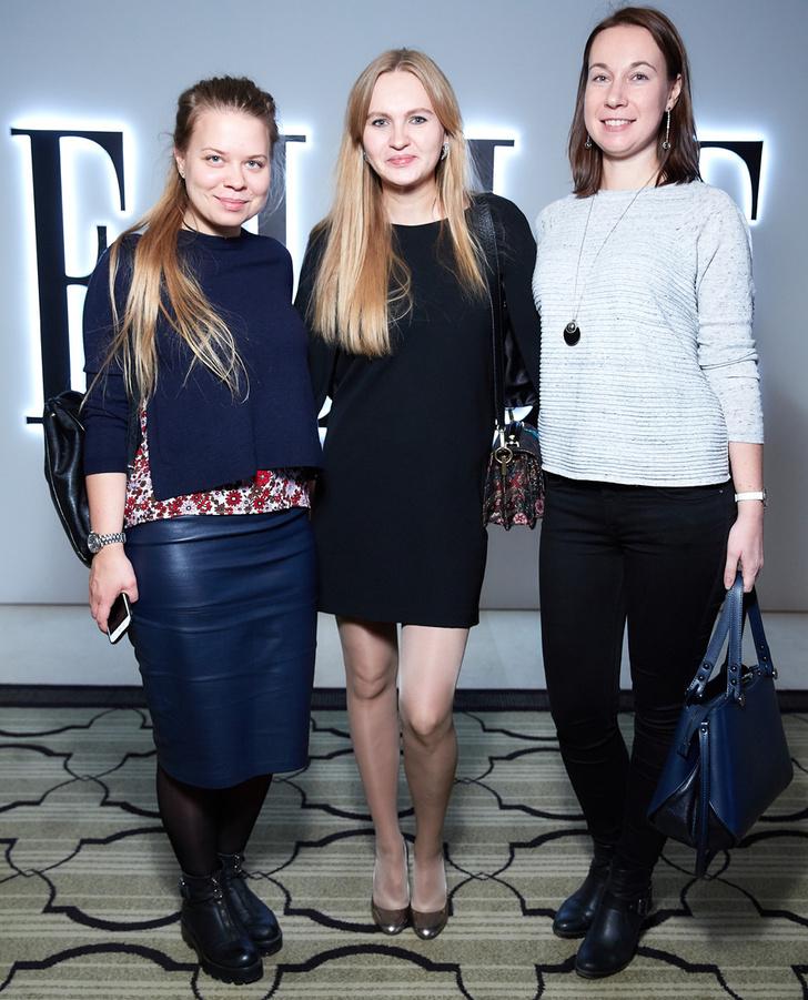 Анастасия Клишина (Swatch Group), Евгения Ставровская (ELLE) и Александра Казакова (Swatch Group)