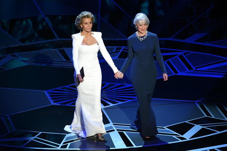 Две легенды: Джейн Фонда и Хелен Миррен на сцене премии «Оскар-2018» (фото 1)