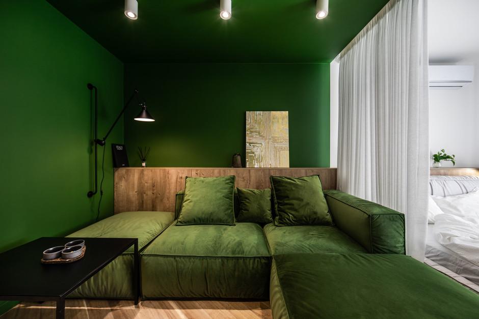 Большие диваны в гостиной (галерея 0, фото 9)