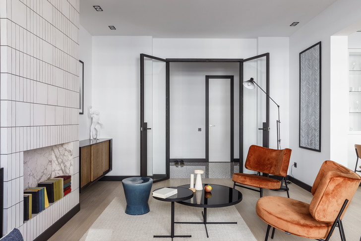 Современная интерпретация стиля «мидсенчури» для двухкомнатной квартиры в Краснодаре (фото 6)