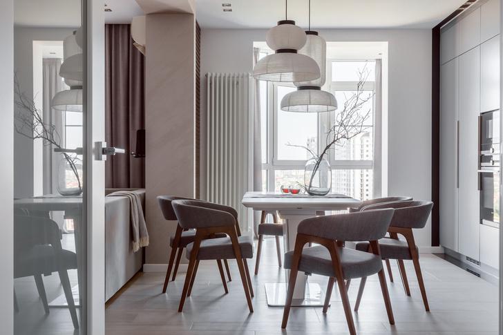 Минималистичная квартира 100 м² в Краснодаре (фото 3)