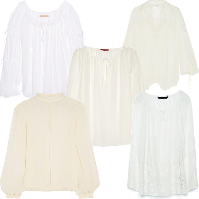 Модные блузки весна лето 2015 фото