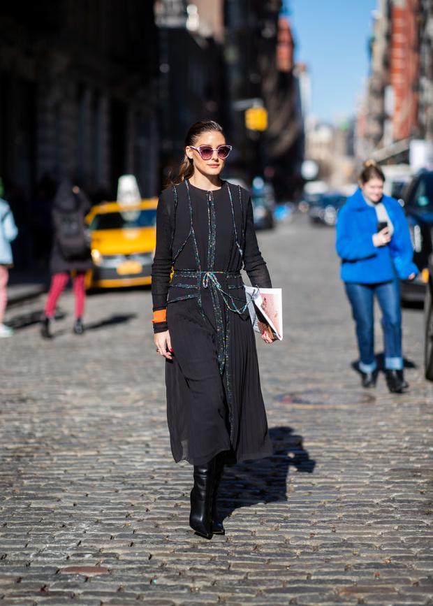 Базовое черное платье на новый лад: Оливия Палермо на Jason Wu (фото 2)