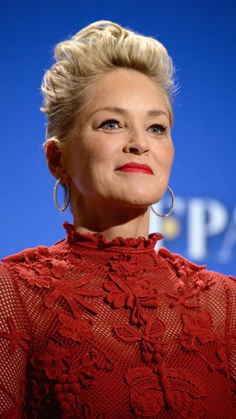 Леди в красном: 59-летняя Шэрон Стоун в платье Maison Valentino (фото 4)