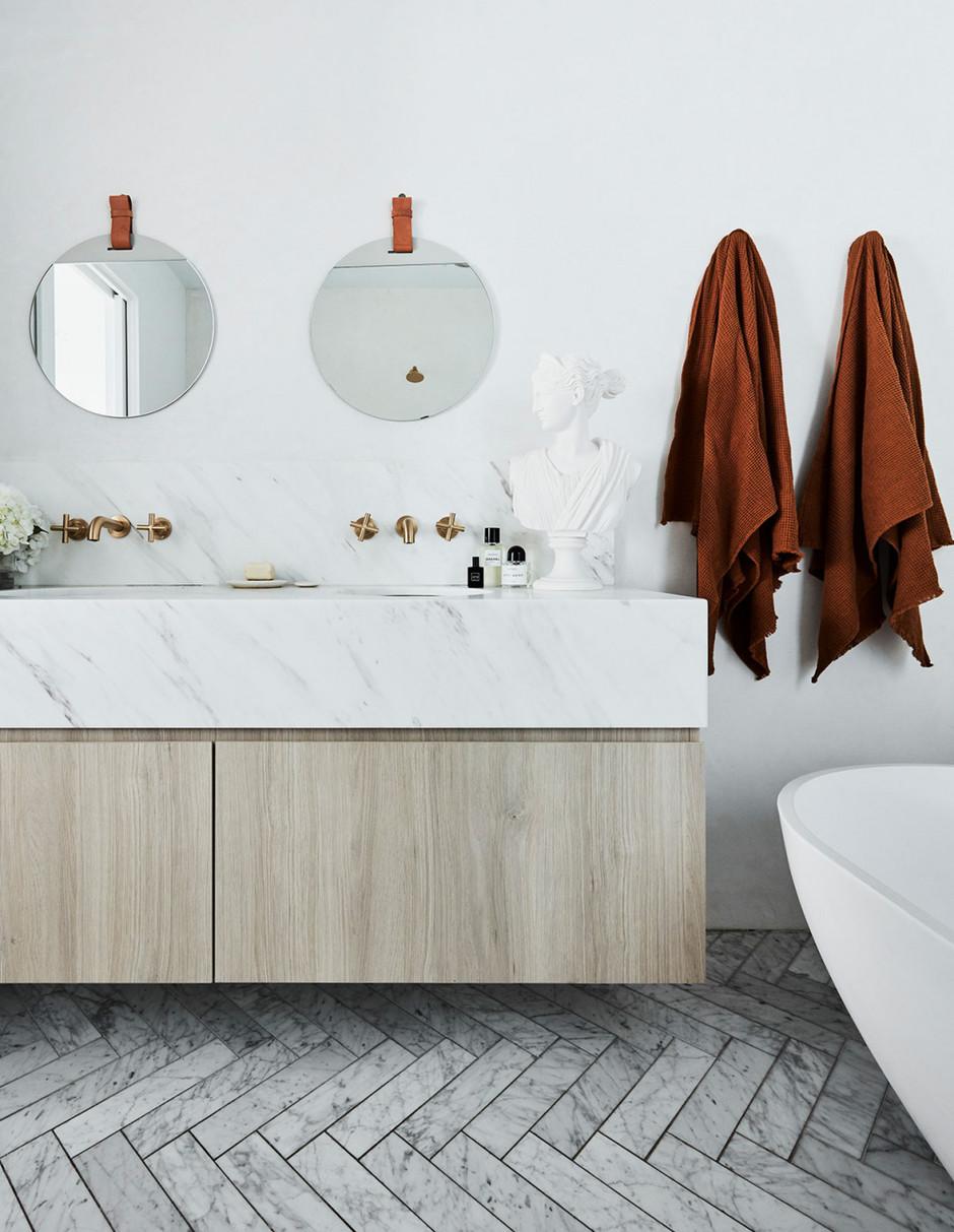 Одна ванная, две раковины: 20 примеров (галерея 1, фото 0)