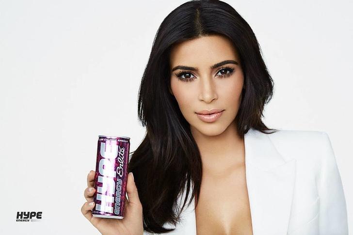Ким Кардашьян в рекламе Hype Energy