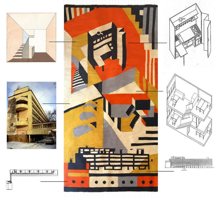 Ковер в стиле конструктивизма (фото 2)