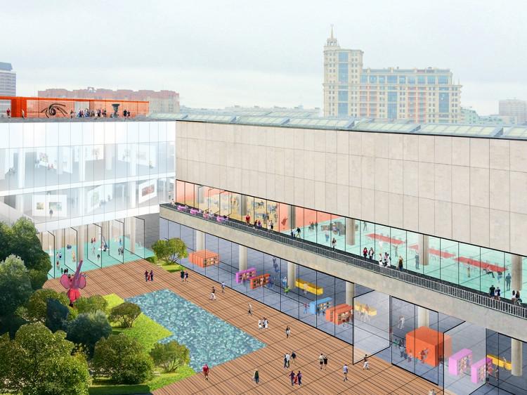 Проект реконструкции Новой Третьяковки в Москве (галерея 4, фото 2)