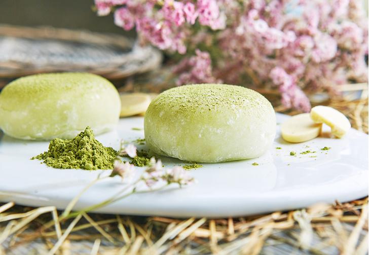 Пирожное «Моти» с зеленым чаем