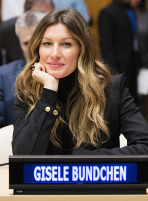Жизель Бюндхен на приеме в ООН