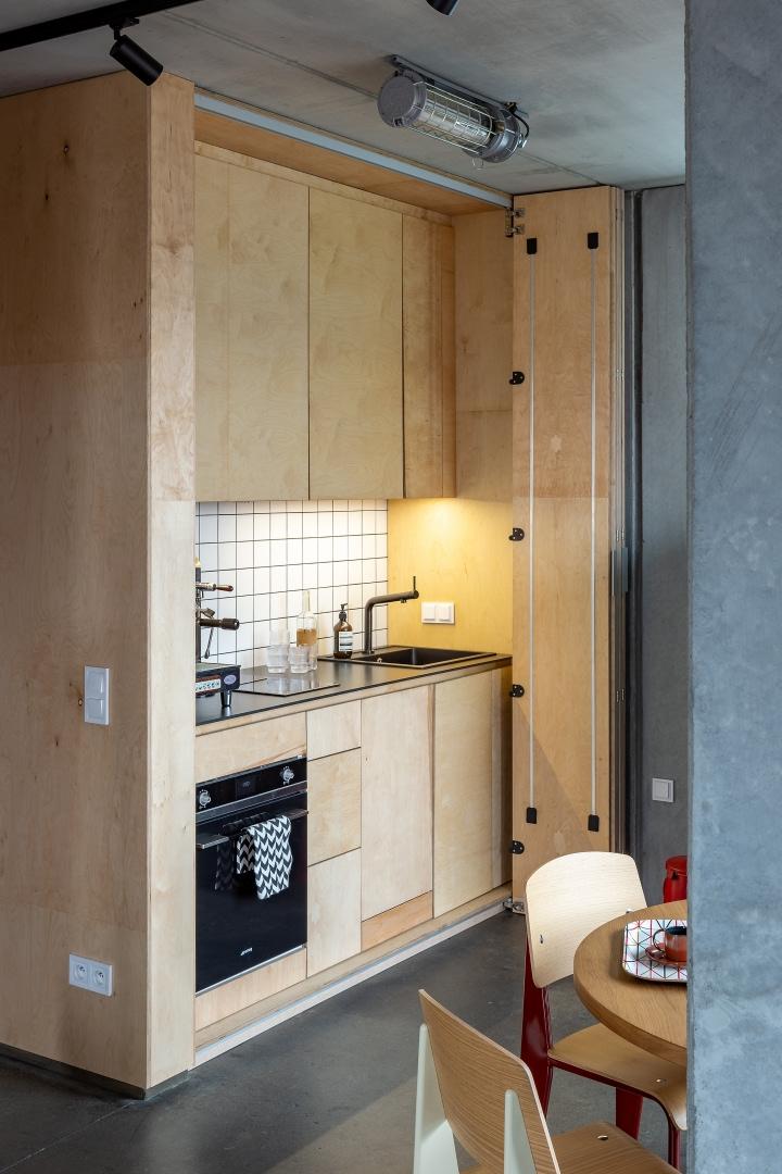 Бетонная квартира 55 м² архитектора Пшемо Лукашика в Варшаве (фото 9)