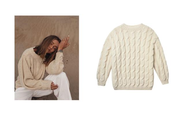 Самые сливки: кремовые свитеры для уютной зимы (фото 1)