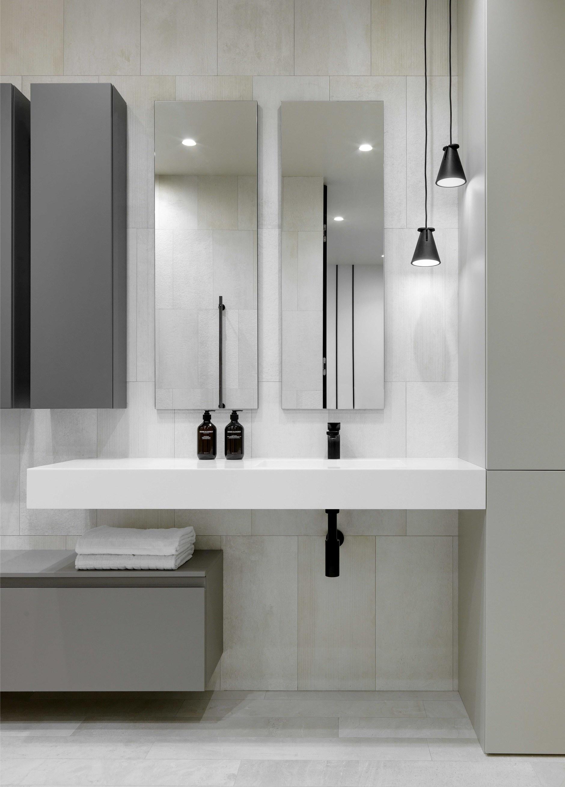 Серый цвет в ванной комнате: 20+ примеров и решений (галерея 1, фото 1)