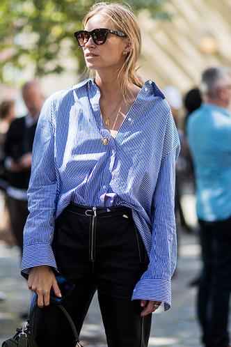 Практикум ELLE: голубая рубашка + брюки (фото 2)