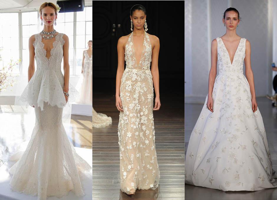 Красивые свадебные платья Marchesa, Naeem Khan, Oscar de la Renta