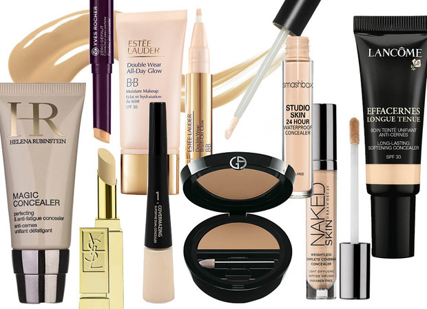 1. Helena Rubinstein Magic Concealer; 2. Yves Rocher Correcteur Zéro Défaut; 3. Estee Lauder Double Wear BB Glow; 4. Smashbox Studio Skin; 5. Lancome Long-Lasting Softening Concealer; 6. Urban Decay Naked Skin Weightless Complete Coverage Concealer; 7. Giorgio Armani Beauty Сompact Cream Concealer; 8. Holika Holika Covermaging Super Fine Dual Concealer; 9. YSL Anti Cernes