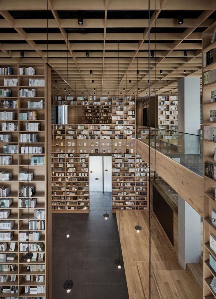 Деревянная библиотека в Ханчжоу (фото 9)