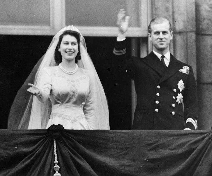 Королева Елизавета и принц Филипп в 1947 году