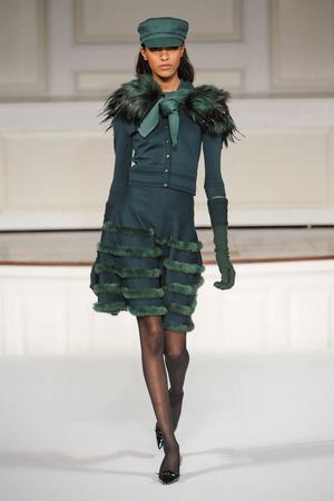 Показы мод Oscar de la Renta Осень-зима 2011-2012 | Подиум на ELLE - Подиум - фото 2328