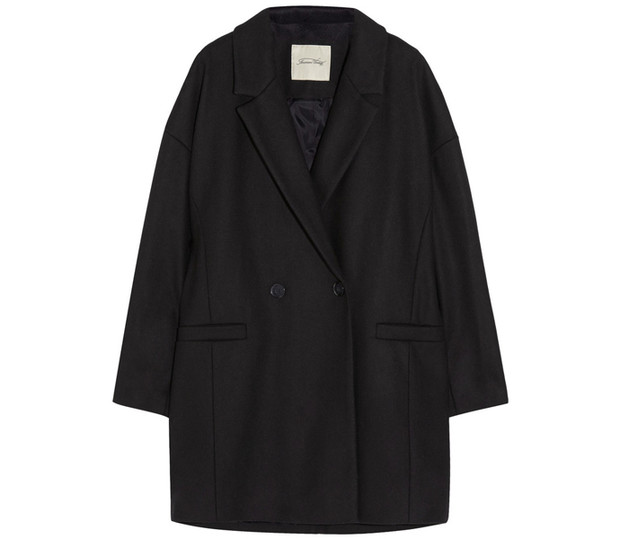 Черное пальто American Vintage