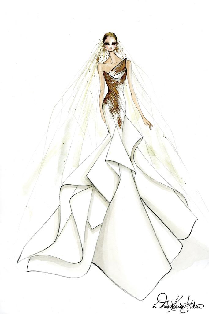 Свадебное платье Леди Гага от Donna Karan