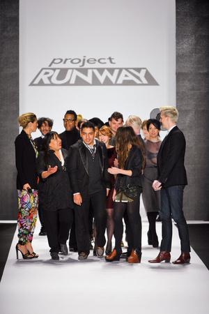Показ Project Runway коллекции сезона Осень-зима 2013-2014 года Prêt-à-porter - www.elle.ru - Подиум - фото 484182