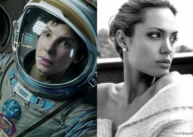 Сандра Буллок — Анджелина Джоли («Гравитация»)