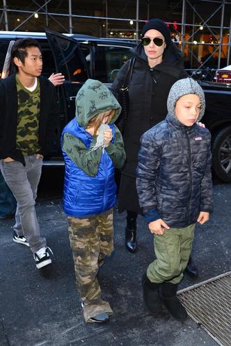 Зима в Нью-Йорке: новый выход Анджелины Джоли с детьми (фото 2)
