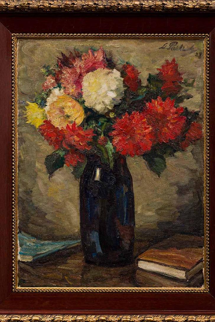 «Натюрморт с голубой вазой с георгинами», Л.О. Пастернак