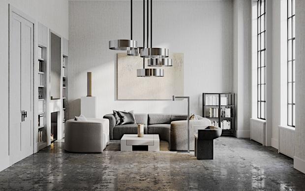 Готовый проект: гостиная 20 м² для любителя искусства (фото 3)