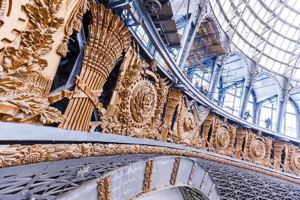 Продолжается реставрация павильона «Космос» на ВДНХ | галерея [1] фото [1]