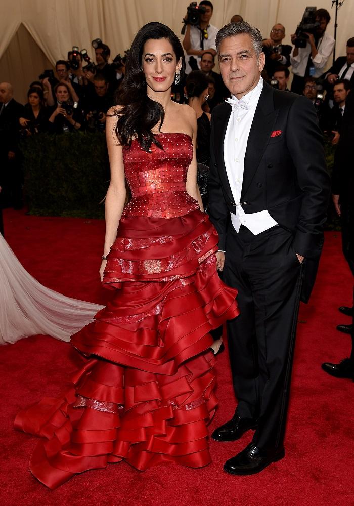 Амаль и Джордж Клуни Met Gala 2015